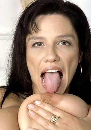 MILF Tongue Porn Pictures